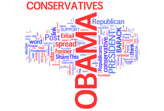 Link to Worldle.net for Wordle of terms related to conservatives for Obama
