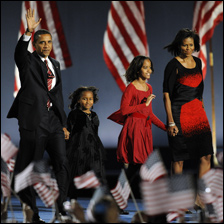 Obama Family Nov 5 2008 Photo copyright Timothy A. Clary AFP Getty Images