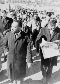 Dr. Martin Luther King Jr. at the March from Selma